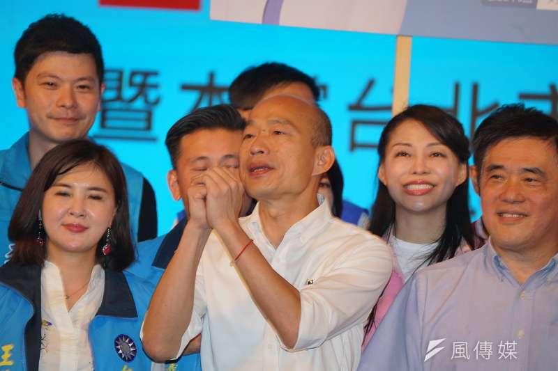 高雄市長韓國瑜在中秋夜直播,批評罷韓行動是無聊的政治算計。(資料照片,盧逸峰攝)