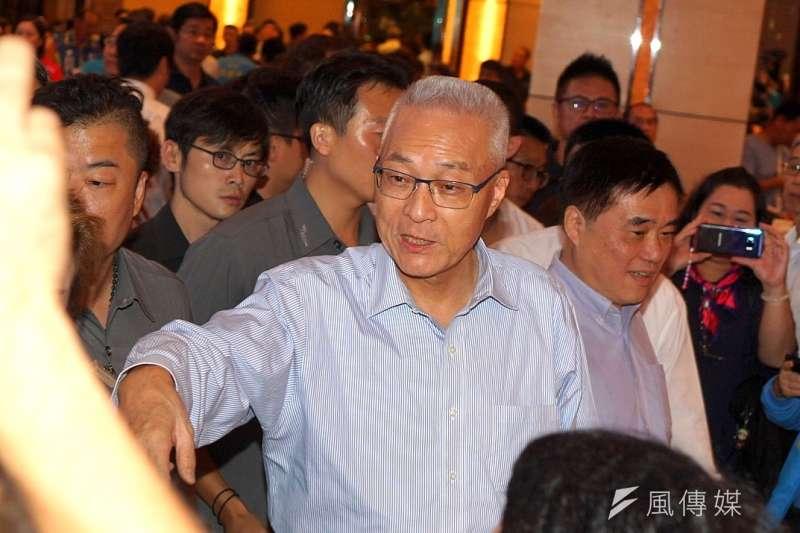 國民黨主席吳敦義表示,陳菊任高雄市長時,高市府舉債已近乎破表,卻還高額補助大港開唱,這次停辦,就該好好查清楚真相。(資料照,盧逸峰攝)