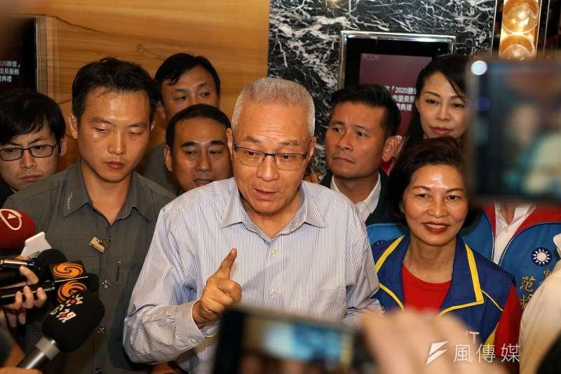 針對2020大選,國民黨主席吳敦義(見圖)表示,國民黨應該囊括所有力量,包括郭台銘與前立法院長王金平。(資料照,盧逸峰攝)