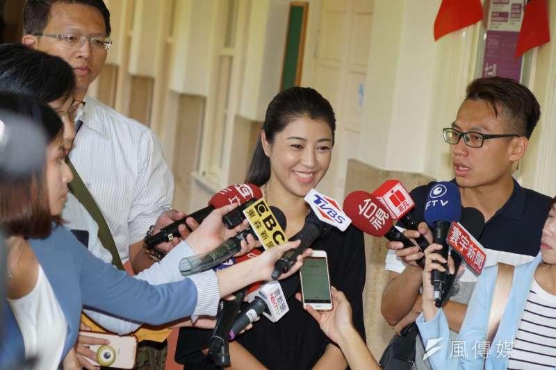 針對媒體爆料國民黨內部有「黑韓」團體,韓國瑜北部競選辦公室副執行長許淑華(見圖)10日受訪時表示,不清楚該團體成員的身分,但韓陣營樂於改進。(盧逸峰攝)。
