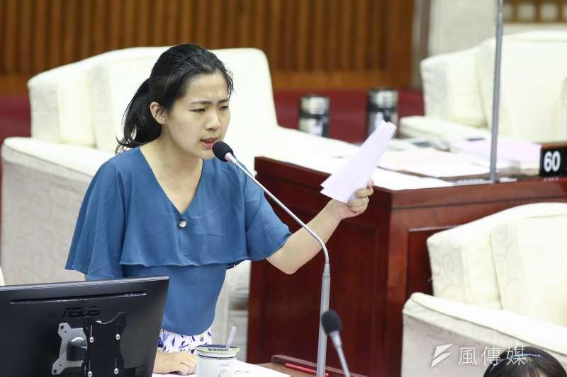 國民黨台北市議員徐巧芯上政論節目,為前總統馬英九出席韓國瑜造勢活動時遭噓下台一事、打抱不平。(資料照片,陳品佑攝)