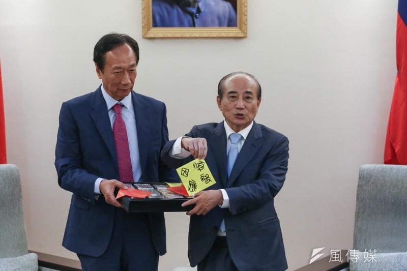 20190911-鴻海創辦人郭台銘赴立法院拜訪前立法院長王金平。(陳品佑攝)