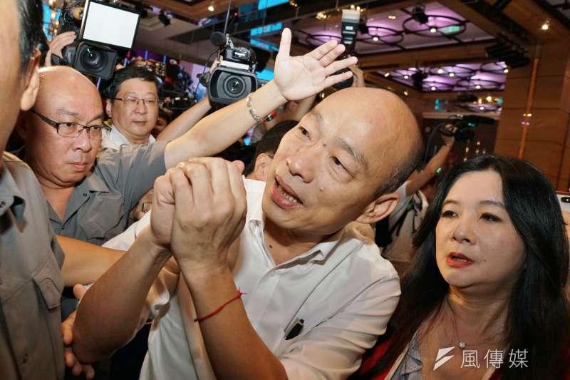 根據《ETtoday新聞雲》在三重造勢後所做最新網路民調結果顯示,國民黨總統候選人韓國瑜的支持度仍持續下滑中。(資料照,盧逸峰攝)