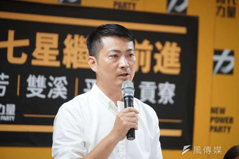 時代力量12日正式提名黃國昌國會辦公室主任賴嘉倫(見圖),參選2020新北第12選區立委。賴嘉倫表示,競選總部將在10月5日成立。(盧逸峰攝)