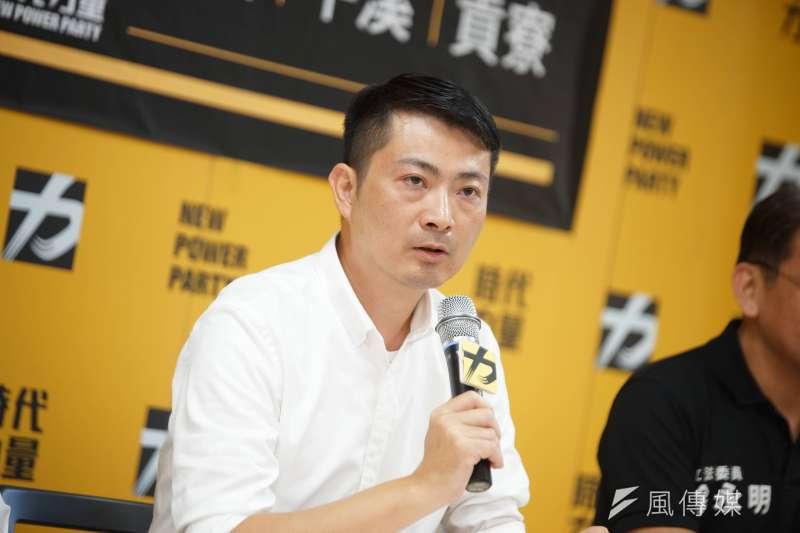 時代力量2020新北第12選區立委候選人賴嘉倫。(盧逸峰攝)