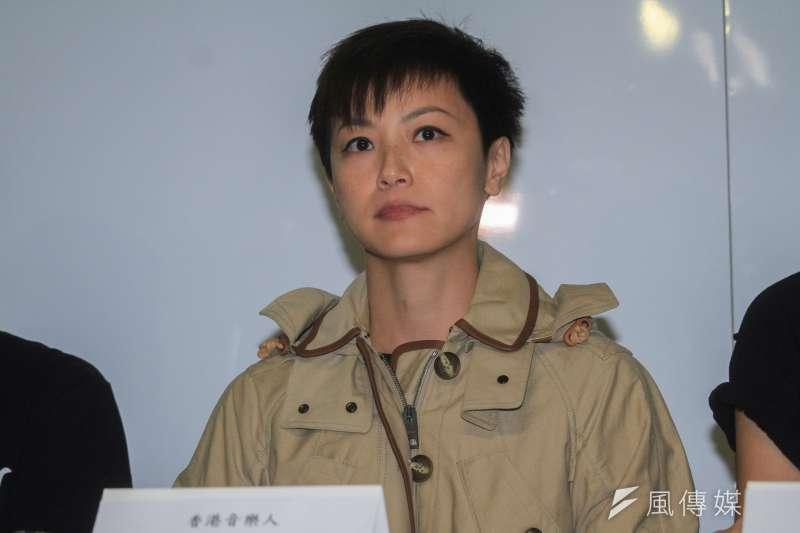 音樂祭「大港開唱」昨晚宣布明年停辦,香港歌手何韻詩12日表示「完全不能接受」。(蔡親傑攝)