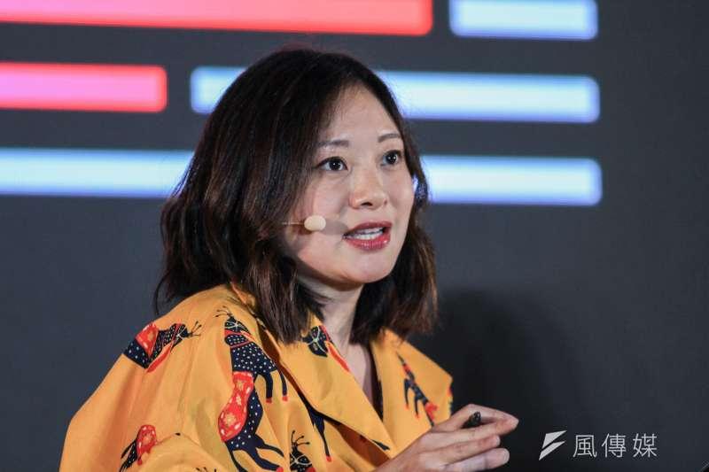 港裔美籍記者陳嘉韻來台參加奧斯陸自由論壇。(蔡親傑攝)