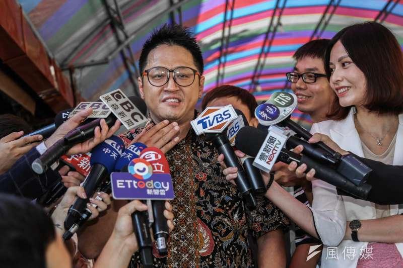 20190913-新住民代表何景榮將代表台灣民眾黨出征區域立委。(簡必丞攝)