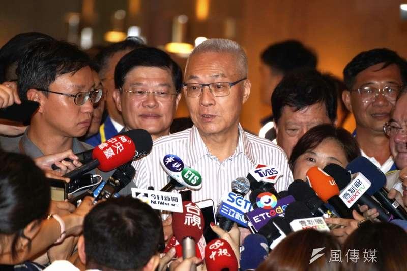 20190915-台商秋節聯誼茶會,主席吳敦義受訪。(盧逸峰攝)