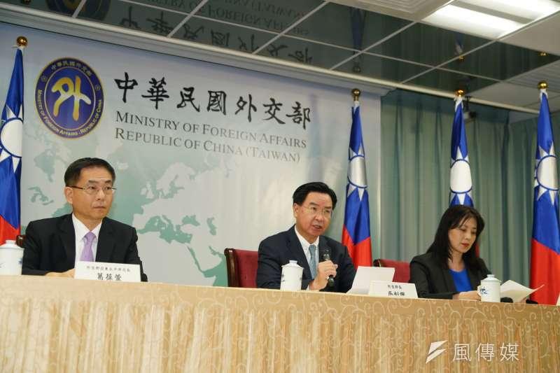 外交部16日針對索羅門群島斷交事件召開記者會,由部長吳釗燮主持。(資料照,盧逸峰攝)