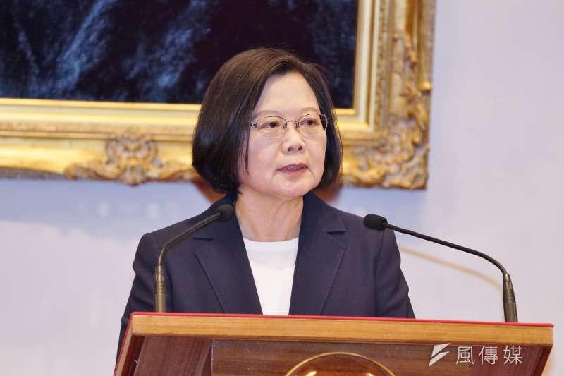 總統蔡英文26日表示,台灣是民主國家,包容不同意見,但不能接受暴力。(資料照,盧逸峰攝)