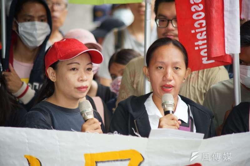20190916-台灣移工聯盟「職災是人禍,家屬要公道 」記者會,意外身亡之移工家屬發言。(盧逸峰攝)
