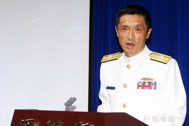 海軍艦指部參謀長陳道輝少將。(蘇仲泓攝).JPG