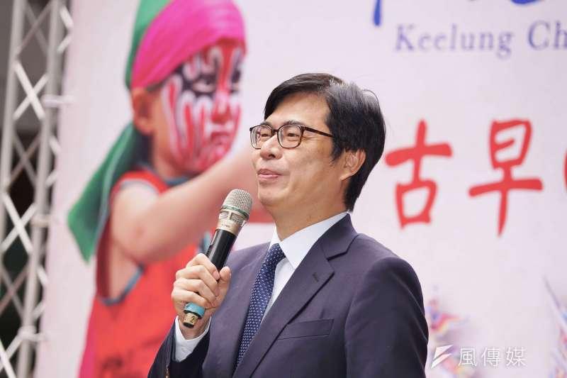 行政院副院長陳其邁在罷韓遊行前一晚在臉書發文。(資料照片,盧逸峰攝)
