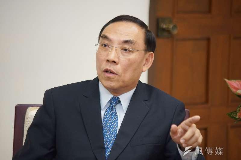 20190917-法務部長蔡清祥接受《風傳媒》專訪。(盧逸峰攝)
