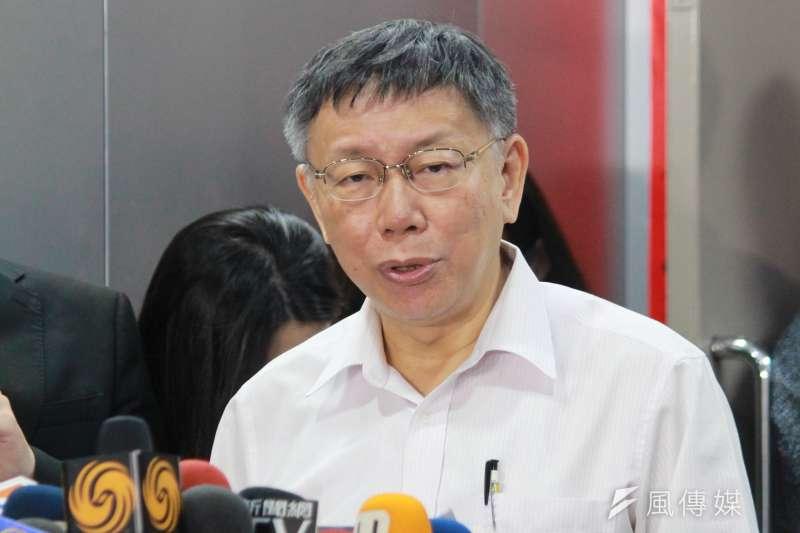 台北市長柯文哲(見圖)籌組的「台灣民眾黨」區域立委名單人選陸續浮現,但經費有限、又缺少「母雞」領航,難以發揮選舉競爭力。(資料照,方炳超攝)