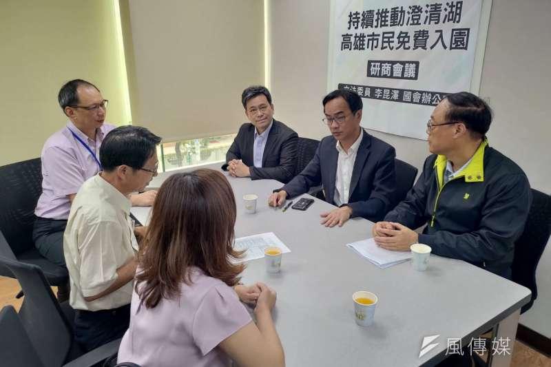 立委李昆澤(右中)、林岱樺特別邀集相關單位召開協調會。(圖/徐炳文攝)