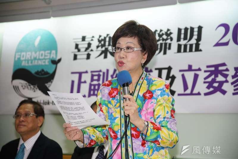 前副總統呂秀蓮將連署總統,重點不在當選,而在推動和平中立(公投)。(盧逸峰攝)