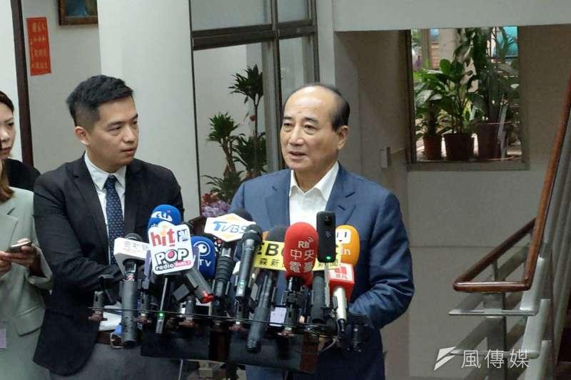 前立法院長王金平17日受訪。(潘維庭攝)