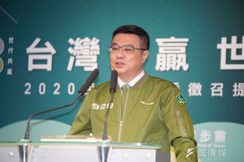 20190918-主席卓榮泰出席民進黨立委徵召提名公布記者會。(盧逸峰攝)