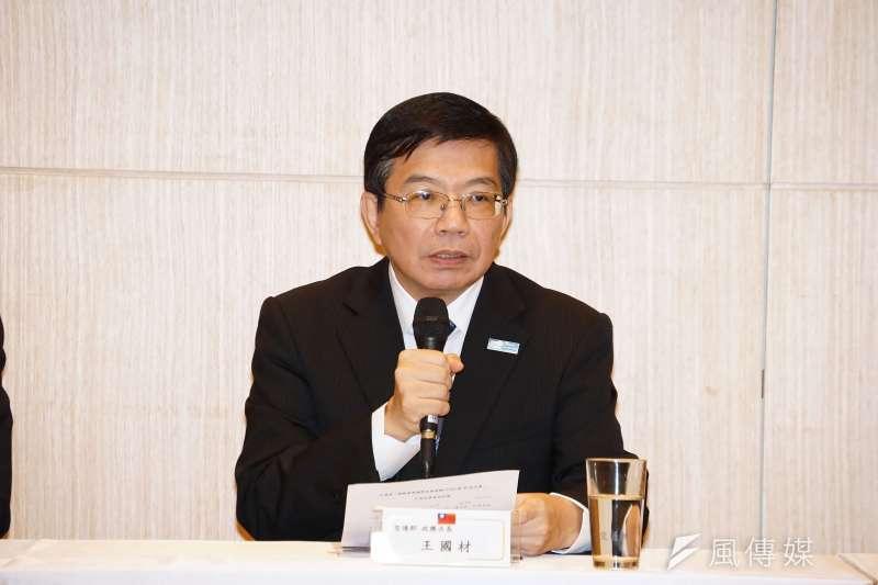 20190919-外交部與交通部於今(19)日舉辦「推動台灣參與第40屆國際民航組織(ICAO)行前記者會」,交通部次長王國材發言。(盧逸峰攝)