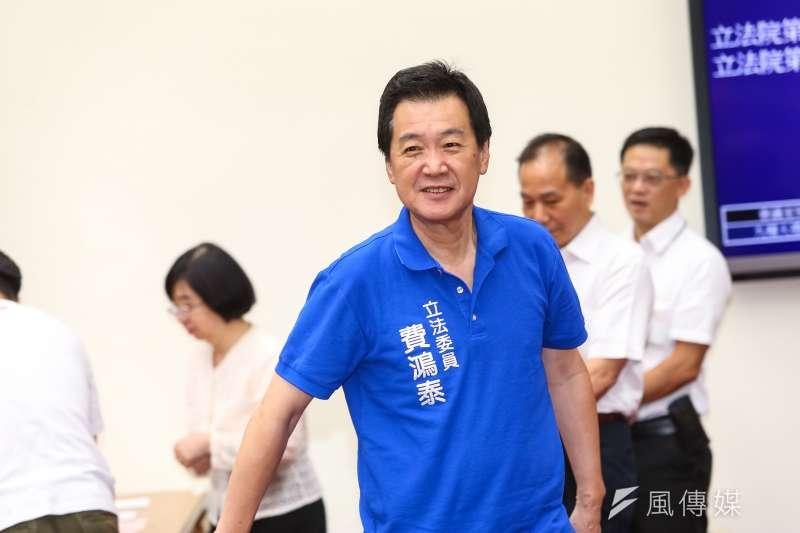 國民黨立委費鴻泰當選財政委員會召委。(顏麟宇攝)