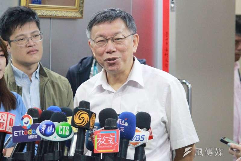 20190919-台北市長柯文哲19日受訪。(方炳超攝)