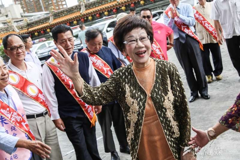 前副總統呂秀蓮接受喜樂島聯盟提名,投入2020總統大選。(資料照,簡必丞攝)