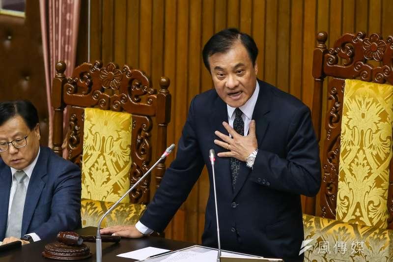 針對民進黨不分區立委提名委員名單,立法院長蘇嘉全16日表達強烈不滿。(資料照,顏麟宇攝)
