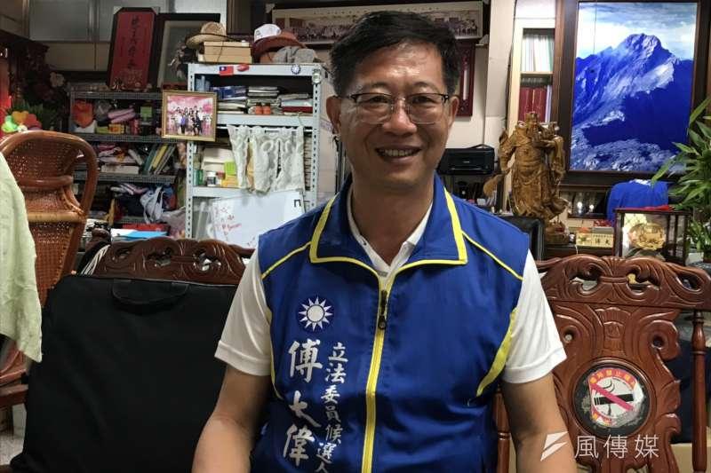 20190920-國民黨提名的嘉義市立委參選人,嘉義市議員傅大偉。(黃信維攝)