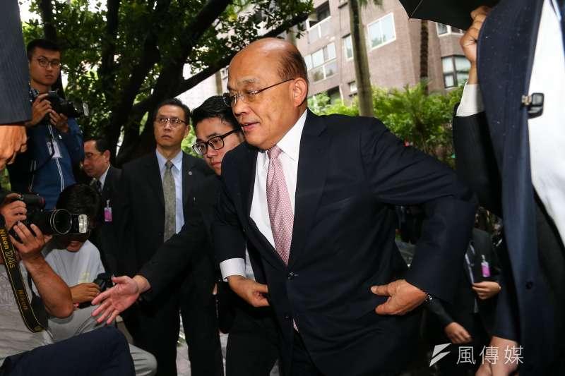 行政院長蘇貞昌20日至立院進行總預算報告。(顏麟宇攝)