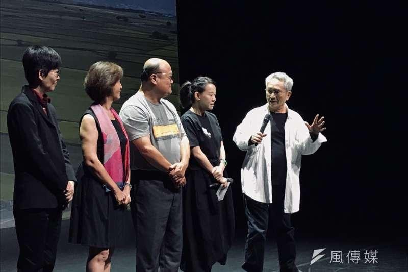 20190920-雲門舞集創辦人林懷民今日出席《松煙》紀錄片首映會。(吳尚軒攝)
