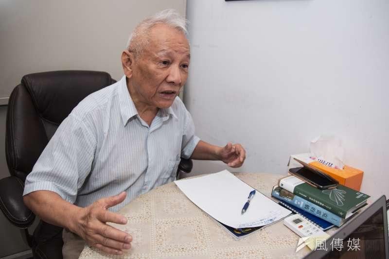 前教育部長曾志朗身為台灣聯合大學系統校長,要負責協調4間學校事務,此外還有很多計畫要做。(簡必丞攝)