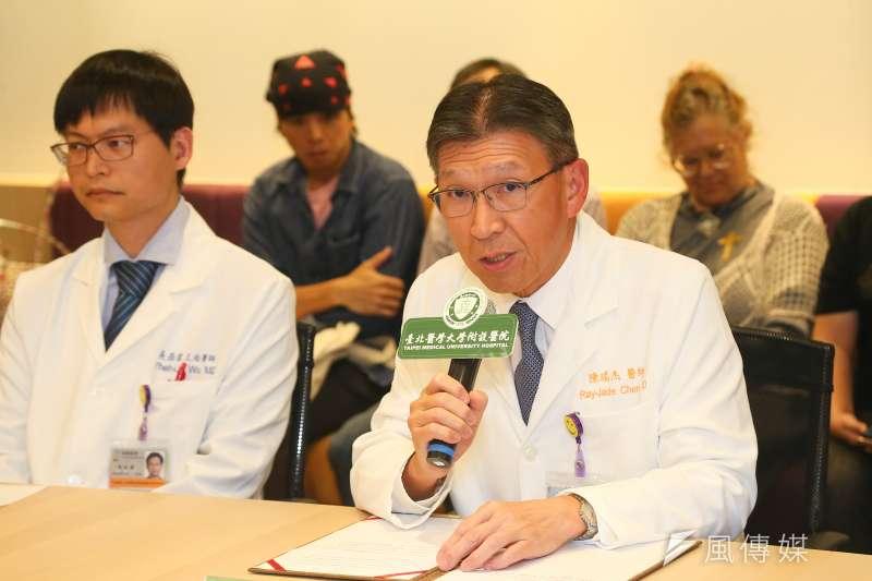 20190921-北醫院長陳瑞杰21日出席史明教育基金會記者會。(顏麟宇攝)