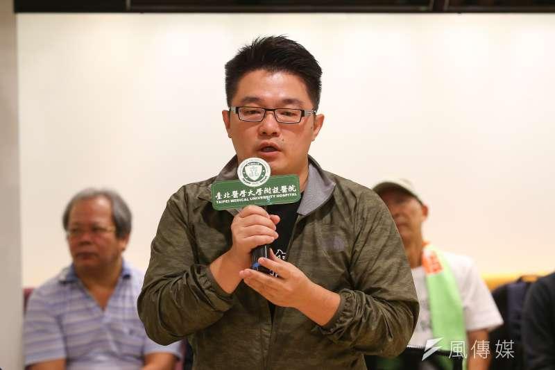 20190921-藍士博21日出席史明教育基金會記者會。(顏麟宇攝)