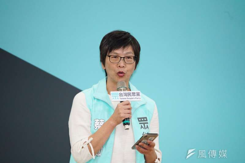台灣民眾黨不分區名單明(15)日出爐,傳出北市府顧問蔡壁如(見圖)名列第5,蔡壁如14日下午受訪時表示,這是她的想法。(資料照,盧逸峰攝)