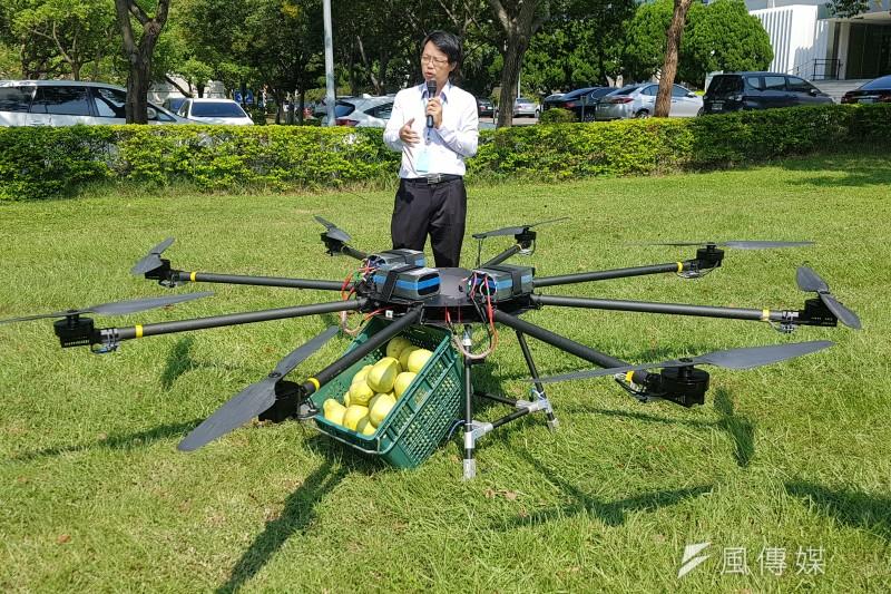 機械所組長彭文陽表示,高負載高續航無人機將可應用在農業、消防救災或巡檢等領域。(圖/方詠騰攝)