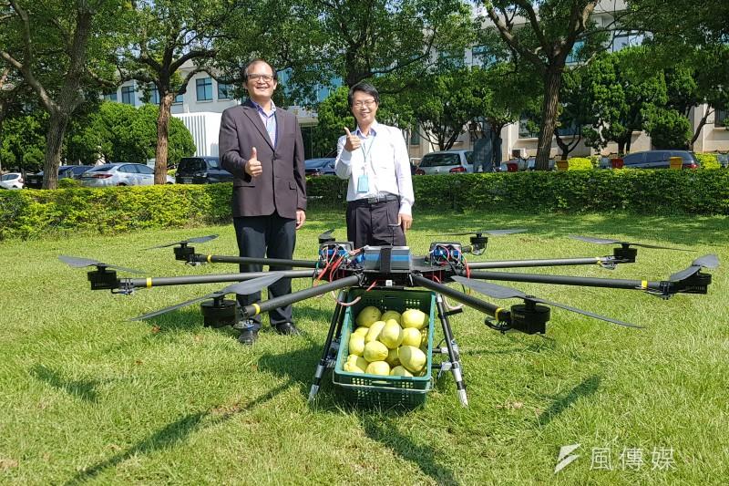 工研院8軸8槳多旋翼無人機入圍杜拜國際無人機競賽,榮獲首輪競賽獎金6萬美元贊助。(圖/方詠騰攝)