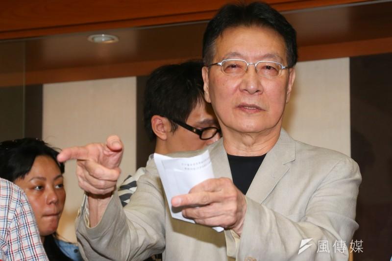20190924-中廣董事長趙少康24日針對黨產會認定中廣為國民黨之附隨組織,出面回應。(顏麟宇攝)