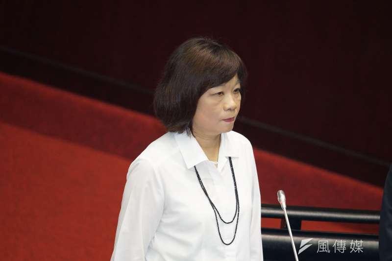 國發會24日再度與歐盟司法總署進行協商會議,歐方已經充分理解台灣獨立機關的職權運作及成員組成方式,認為尚符合GDPR獨立專責機關的要件。圖為國發會主委陳美伶。(資料照,盧逸峰攝)
