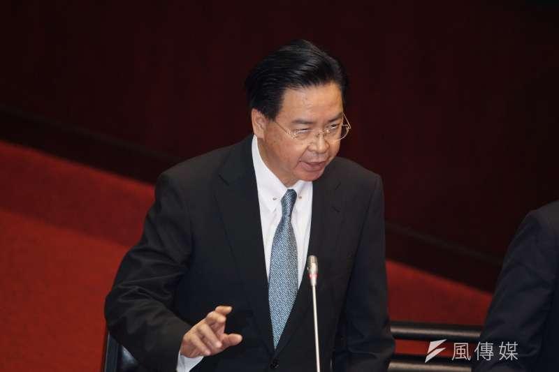 20190924-立法院院會,外交部長吳釗燮備詢。(盧逸峰攝)
