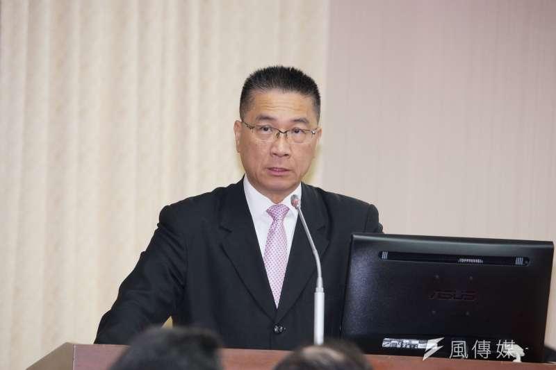 內政部長徐國勇25日上午列席立法院內政委員會專案報告。(盧逸峰攝)