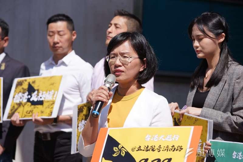20190925-立委蘇巧慧等出席「撐香港、反極權,929全民站出來」記者會。(盧逸峰攝)