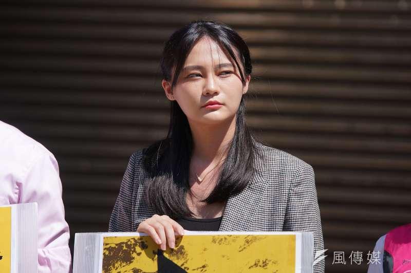 20190925-立委參選人賴品妤出席「撐香港、反極權,929全民站出來」記者會。(盧逸峰攝)