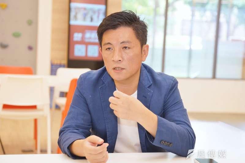 20190926-民進黨新竹市立委參選人鄭宏輝接受《風傳媒》採訪。(盧逸峰攝)
