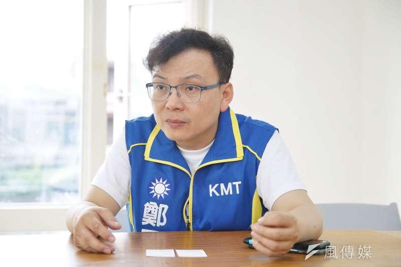 20190926-國民黨新竹市立委參選人鄭正鈐接受《風傳媒》採訪。(盧逸峰攝)