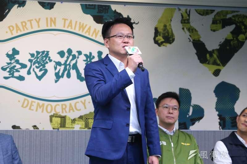 20190927-民進黨立委參選人莊競程27日出席民進黨黨慶記者會。(顏麟宇攝)