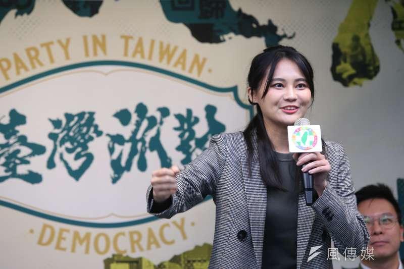 20190927-民進黨立委參選人賴品妤27日出席民進黨黨慶記者會。(顏麟宇攝)