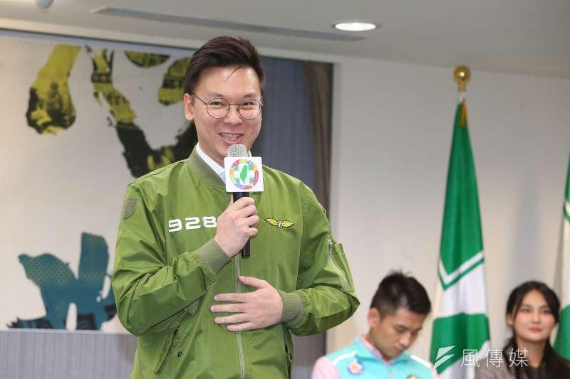 20190927-民進黨副秘書長林飛帆27日出席民進黨黨慶記者會。(顏麟宇攝)