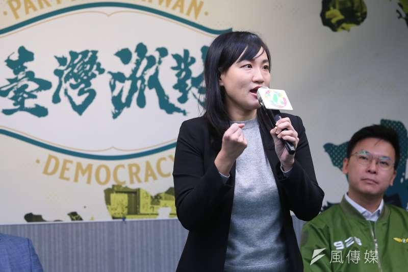 20190927-民進黨立委參選人謝佩芬27日出席民進黨黨慶記者會。(顏麟宇攝)